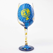 #1 Wine Drinker Wine Glass by Lolita�