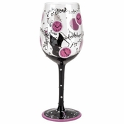 It's 5 O'Cock Somewhere for Her Wine Glass by Lolita�