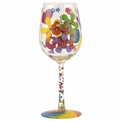 60's Girl Wine Glass by Lolita�
