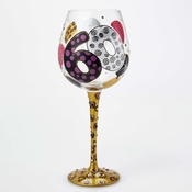 60th Birthday Super Bling Wine Glass by Lolita�