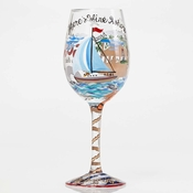 Anchor's Away Wine Glass by Lolita�
