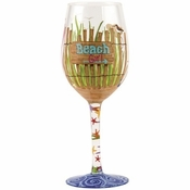 Beach Girl Wine Glass by Lolita�