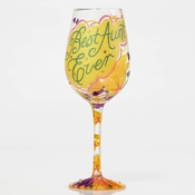 Best Aunt Ever Wine Glass by Lolita�
