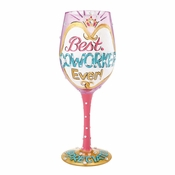 Best Coworker Ever Wine Glass by Lolita�