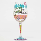 Best Friends Always Wine Glass by Lolita�
