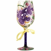 Best Mom Ever Wine Glass by Lolita�