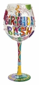 Birthday Bash Super Bling Wine Glass by Lolita�
