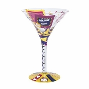 Birthday Girl Martini Glass by Lolita�