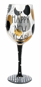 Blinging New Year Wine Glass by Lolita�