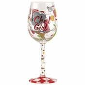 Chef GIrl Wine Glass by Lolita�