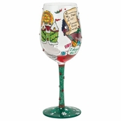 Christmas Princess Wine Glass by Lolita�