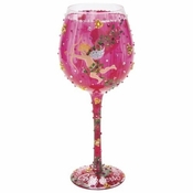 Cupid's Bow Super Bling Wine Glass by Lolita�