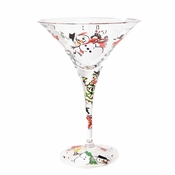 Frosty Loves To Party Martini Glass by Lolita�