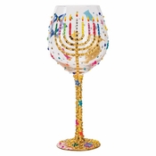 Hanukkah Super Bling Wine Glass by Lolita�