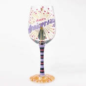 Happy Anniversary Wine Glass by Lolita�