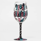 Happy Day Wine Glass by Lolita�