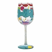 Happy December Wine Glass by Lolita�