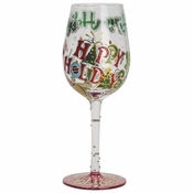 Happy Holidays to You Wine Glass by Lolita