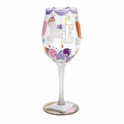 Happy June Wine Glass by Lolita�