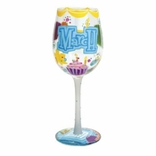 Happy March Wine Glass by Lolita�