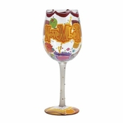 Happy November Wine Glass by Lolita�