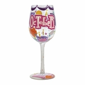 Happy October Wine Glass by Lolita�