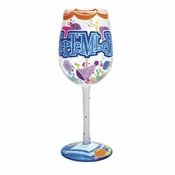 Happy September Wine Glass by Lolita�