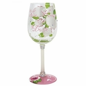 Here Come the Bride Wine Glass by Lolita�