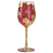 Holiday Bouquet 3 Wine Glass by Lolita�