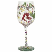 Holiday Party Wine Glass by Lolita�