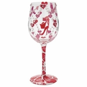 Hot to Trot Wine Glass by Lolita�