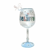 I Still Believe Mini Wine Glass Ornament by Lolita�
