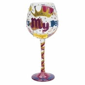 It's My Day Super Bling Wine Glass by Lolita�