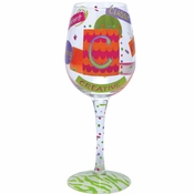 "Letter ""C"" Wine Glass by Lolita�"