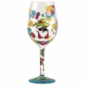 Life is a Beach Wine Glass by Lolita�