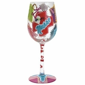 Love My Nurse Wine Glass by Lolita�