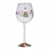 Naughty and Nice Super Bling Wine Glass by Lolita�
