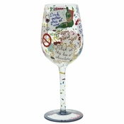 New Year's Resolution Wine Glass by Lolita�