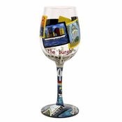 Pittsburgh Wine Glass by Lolita�