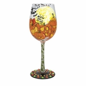 Pumpkin Patch Wine Glass by Lolita�