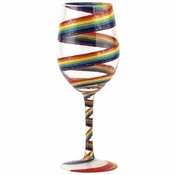 Rainbow Wine Glass by Lolita�