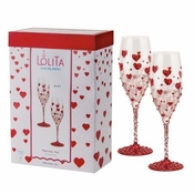 Red Hot, Too Bellini Glasses (Set of 2) by Lolita�