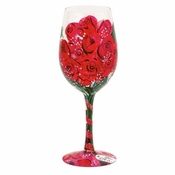 Red Rose, Too Wine Glass by Lolita�