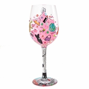 Shopping For Myself Wine Glass by Lolita�