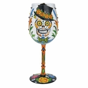 Sugar Skulls Wine Glass by Lolita�
