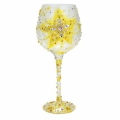 The Brightest Star Super Bling Wine Glass by Lolita�