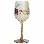 The First Noel Wine Glass by Lolita�