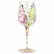 Topsy Turvy Wedding Cakes Wine Glass by Lolita�