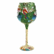 Tropical Dream Super Bling Wine Glass by Lolita�