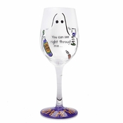 You Can See Right Through Me Wine Glass by Lolita�